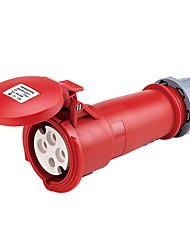 HENNEPPS HN1241 Waterproof Industrial Connector Female Industrial Socket CE 400V 50A 3P+E IP44 6H 10-16mm²