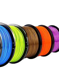 color fluorescente Lanu filamento impresora 3d materiales consumibles de impresión 3d (abs pla, 1.75mm 3.0mm, 1kg)