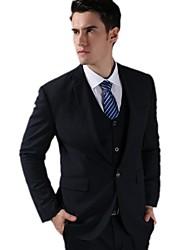 Trajes ( Azul Marino , 85% Fleece 15% poliéster , 3 Piezas )- de Corte Slim