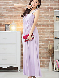 Ankle-length Silk Bridesmaid Dress - Champagne / Black / Lavender Ball Gown Sweetheart