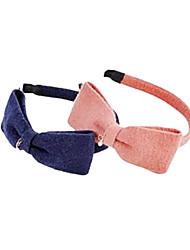dulces vinchas de tela multicolor para las mujeres (rosa, azul) (1 unidad)