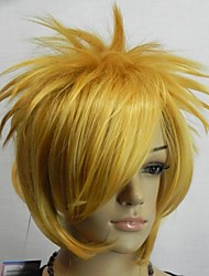 loiro anime partido reta peruca cosplay das mulheres