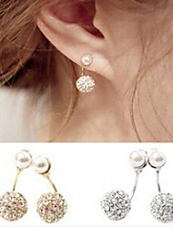 pendientes de diamantes de doble bola