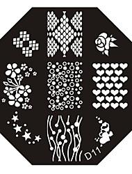 nail art estampage l'image timbre plaque modèle série d no.11
