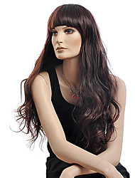 Capless Long Curly Brown Synthetic Wig