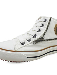 Sneakers de diseño ( Blanco/Caqui ) - Comfort - Lienzo