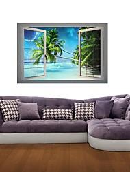 3d наклейки для стен наклейки на стены, морские кокосовые пальмы декор виниловые наклейки для стен