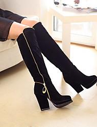 dedo do pé redondo botas de salto robusto gato francis das mulheres