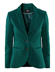 Women's Black/Green Blazer , Work