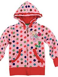 casacos da menina com as crianças de vestuário de inverno com capuz manga longa polka dots global antumn casacos de impressão aleatória
