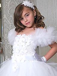 A-line Knee-length Flower Girl Dress Sleeveless