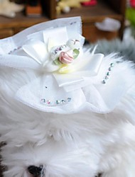Dog Hair Accessories White Spring/Fall Wedding