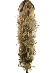 Claw Clip Synthetic Hair Extension 30 Inch Long Curly Ponytail