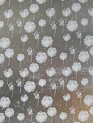 feuille grilles de fenêtre des autocollants papier translucide fenêtre opaque dépoli décalcomanies pissenlit