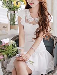 Pink Doll® Women's Romantic Short Sleeve Waist Dress