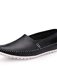 Men's Shoes Casual Leather Loafers Black/White/Navy
