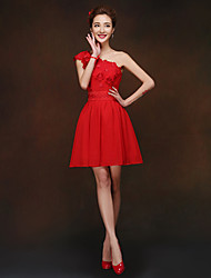 Short/Mini Bridesmaid Dress - Ruby Sheath/Column One Shoulder