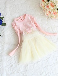 Girl's Chiffon/Cotton Dress , Spring Long Sleeve