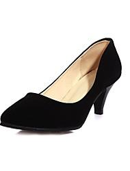Zapatos de mujer - Tacón Cono - Tacones / Puntiagudos - Tacones - Vestido - Ante Sintético - Negro / Azul / Rosa