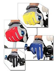 FJQXZ Unisex Cycling Gloves Full Finger Microfiber Leather Palm Lycra Anti-skid
