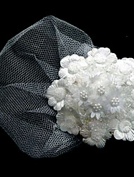 Fashion Bride Silk Flowers Gauze Imitation Pearl Little Hat Hairpin