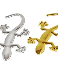 LEBOSH®Pure metal gecko stickers Personality sticker Car decoration