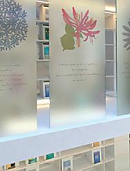 """80 * 80см (31 """"W * 31"""" L) статические пластиковой пленки матовое стекло пленка оконные решетки - лепесток"""