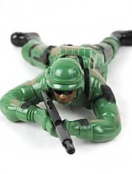 legal plástico lutadores selva brinquedo - exército verde (2 x AA)