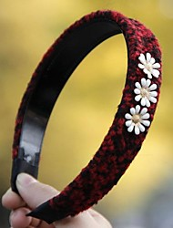Women Cute/Casual Wool Blends Three White Flowers Headbands