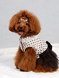 Dresses for Dogs Brown Summer XS / S / M / L / XL Cotton