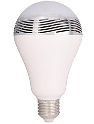 Lâmpada de LED Smart Ativada Por Som / Controle Remoto / Bluetooth E26/E27 3W LM K Vermelho / Azul / Verde / Roxa SMD 1 pç AC 100-240 V