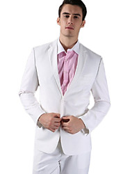 White Fleece Tailored Fit Two-Piece Suit
