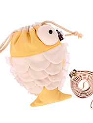 Lovely Fish Yellow Cosmetic Bag
