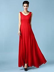 moda pescoço v sexy vestidos de chiffon das mulheres (mais cores)