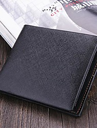Men's Synthetic Leather Wallets  Pocket Credit Card Billfold