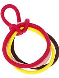 (5 peças) de cabelo tecido multicolor doce gravatas para as mulheres