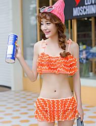 Vicki Women's Sweet Girl Style Push-up Swim Dress Bikini Swimming Suit