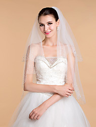 Wedding Veils Women's Elegant Tulle Beaded Edge Veils