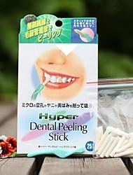 Отбеливание зубов зубной пилинг палку с 25pcs гигиена полости рта ластик
