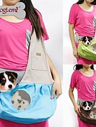 Gato / Cachorro Tranportadoras e Malas / Mini Mensageiro Animais de Estimação Cestos Portátil / Respirável Verde / Azul / Castanho / Rosa