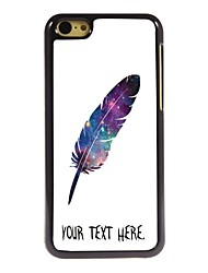 Personalized Case Feather Design Metal Case for iPhone 5C