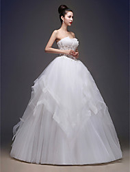 Ball Gown Wedding Dress Floor-length Bateau