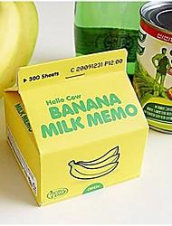 carton de lait carnet de notes mémo notes autocollantes (couleur aléatoire)