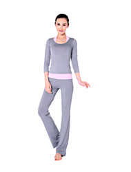 Women's Yoga Suits Half Sleeve Pink / Gray / Black / Purple Yoga S / M / L / XL / XXL