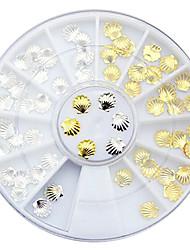 3D-Gold-Silber-Metall-Nagelkunst 3mm 5mm stilvollen Schale entworfen Nagel Bolzen, DIY Nagel Beauty-Accessoires Dekorationswerkzeuge