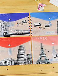 Places of The World Plastic A4 File Bag(1 PCS Random Color)