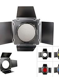 SN-02 Honeycomb Cover Metal Barndoor Color Filter Kits for Standard Reflector 200mm Standard Hood