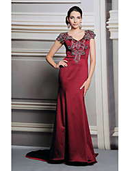Formal Evening Dress Trumpet / Mermaid V-neck Floor-length with