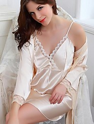 Satin/Polyester Sexy  Casual/Party Sleepwear Set(More Colors)