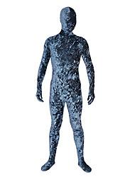 blauw fluweel unisex Zentai pak